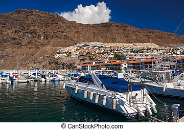 Port in Los Gigantes - Tenerife Canary