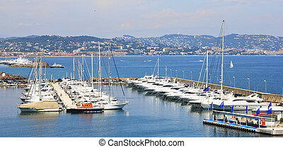 Port in the south of France