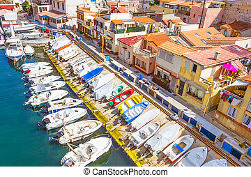 Port in Vallon des Auffes, Marseilles, France