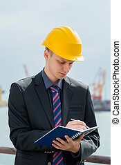 port inspector with notepad