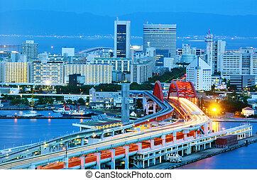 port island in kobe, japan