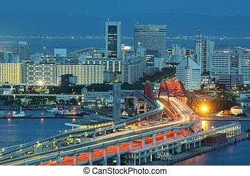 Port Island in Kobe, Japan.