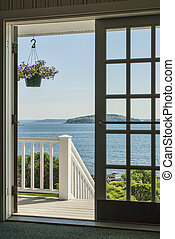 port, maine, barre, frenchmans, baie