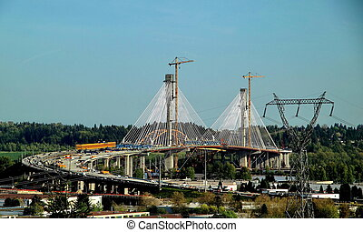 Port Mann Bridge Construction Vancouver British Colulumbia