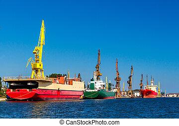 port., mer, gdansk.