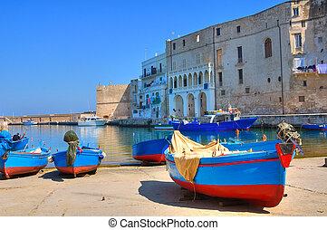 port., monopoli., puglia., 古い, italy.