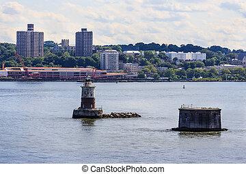 port, nowy, oświetlać, york