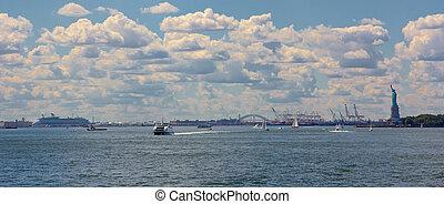 port, nowy york, panorama