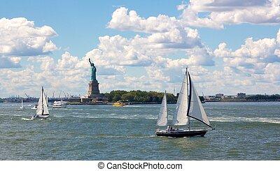 port, nowy york, scena