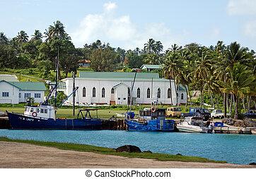 Port of Aitutaki in Aitutaki Lagoon Cook Islands
