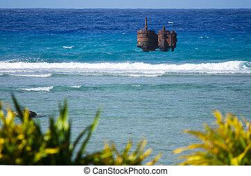 Port of Avatiu in Rarotonga - Cook Islands