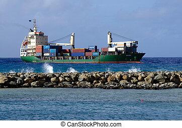 Port of Avatiu - Island of Rarotonga, Cook Islands