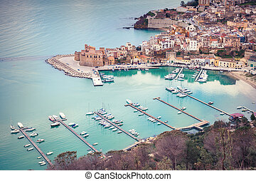 Port of Castellammare del Golfo town and Ethno Anthropology ...