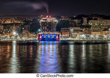 Port of Genoa in Liguria Italy