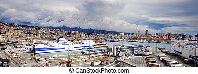 Port of Genoa - panoramic view