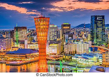 Port of Kobe Cityscape - Kobe, Japan port and skyline.