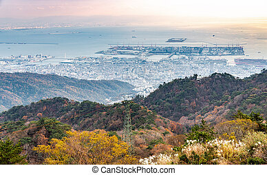 Port of Kobe from Rokko mountain view