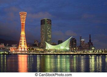 Port of Kobe - Landmark Kobe Tower in Kobe, japan.