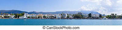 Port of Kos town on the island, Greece