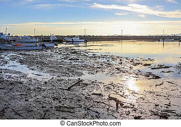 Port of Loreto after hurricane