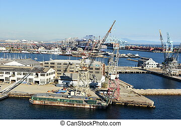 Port of Los Angeles in California