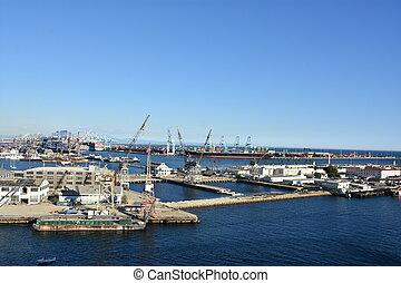 Port of Los Angeles in California