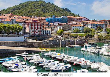 port of mundaka, basque country, spain