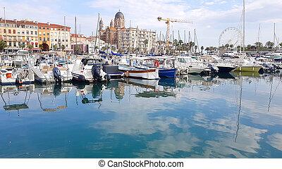 Port of Saint Raphael, Var, South of France