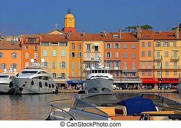 Port of Saint-Tropez in France - Port of Saint-Tropez in...