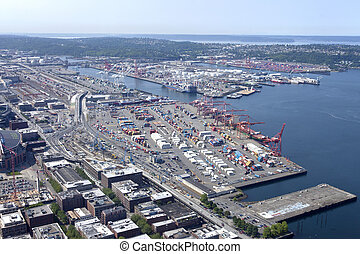 Port of Seattle Washington. - The port of Seattle Washington...
