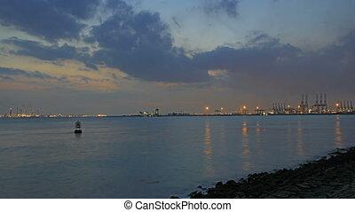 Port of Singapore at Night 1080p