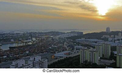 Port of Singapore Industrial Scene
