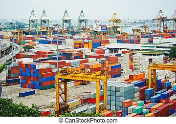 Port of Singapore - Singapore commercial port . It's the...