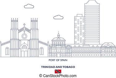 Port of Spain City Skyline, Trinidad and Tobago - Port of...