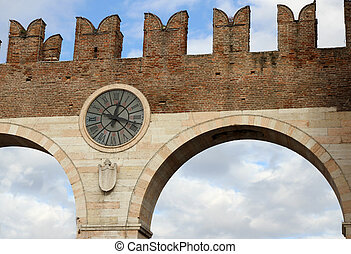 port of the ancient city of Verona in the veneto in Italy -...