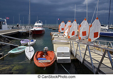 Port of Thonon les Bains in France