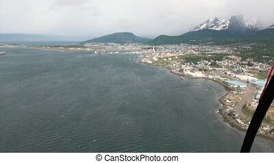 Port of Ushuaia view from from the top of the helicopter...