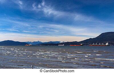 port, pétroliers, vancouver, ocean's