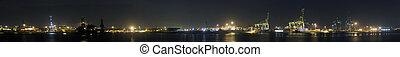 port, panorama, rotterdam