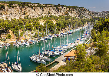 Port Pin in the calanques of Cassis, south of France