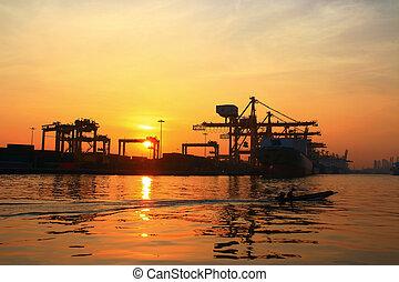 port, récipient bateau