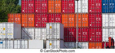 port, récipients cargaison