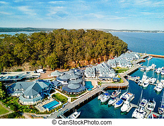 Port Stephens Anchorage marina - Views over the Anchorage...