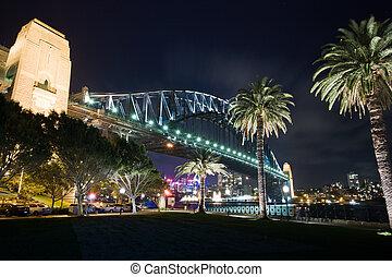 port sydney, australie, sydney, pont