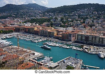 Port - The port of Nice, France.