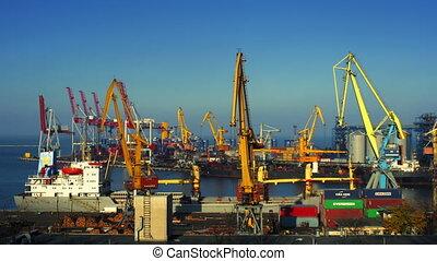 port, timelapse, commerce, zoom, activité
