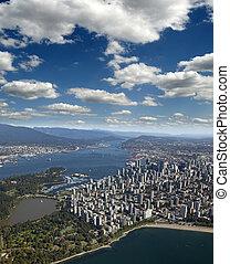 port, vancouver, -, crique, burrard
