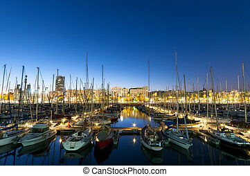 Port Vell, Barcelona - Stock Image