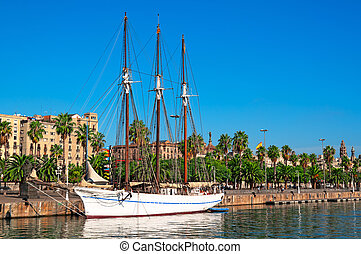 Port Vell in Barcelona - Spain.