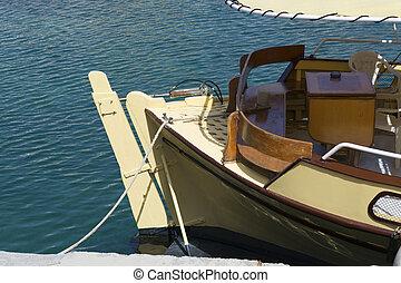 port, vendange, bateau pêche